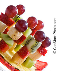 Fruit canape on toothpick