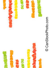 Fruit candy multi-colored all sorts background