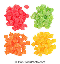 Fruit candy multi-colored all sorts