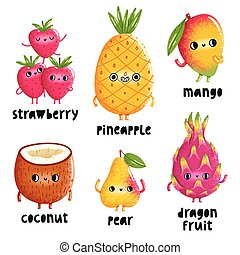 Fruit characters set 1