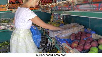 fruit, choisir, marché