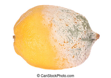 fruit, citroen, half-damaged