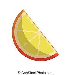 fruit, citroen, pictogram