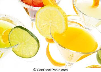 Fruit cocktail drink