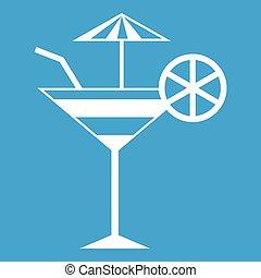 Fruit cocktail icon white