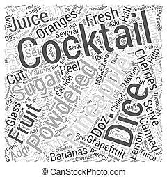FRUIT COCKTAILS Word Cloud Concept