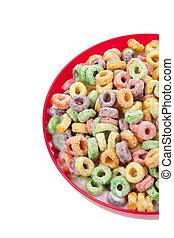 fruit, coloré, céréale