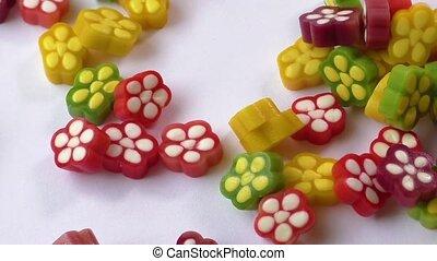 fruit, coloré, gelée, bonbon