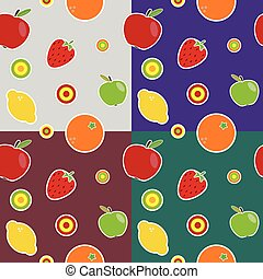 fruit colored pattern