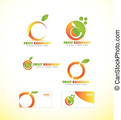Fruit company orange logo icon