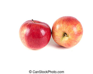 Fruit composition of two red apples