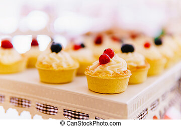 Fruit Cupcake Cookies At Wedding Candy Bar