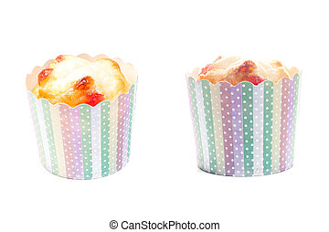 fruit cupcake isolated