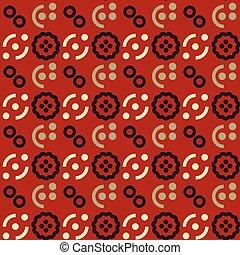 Fruit cut in half seamless pattern