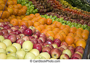 fruit department - fruit in the produce department of a...
