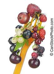 Fruit diet concept macro