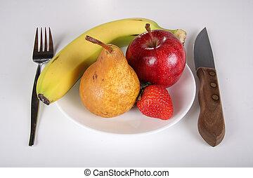 Fruit diet - Conceptual healthy fruit diet