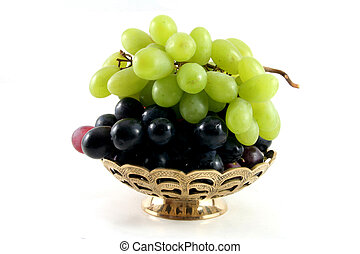 fruit dish with grapes