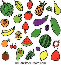 Fruit Doodle Pattern, best for print design