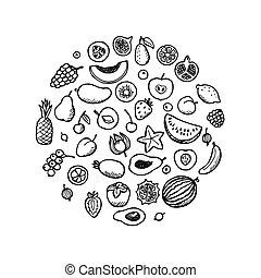 Fruit Doodle Set