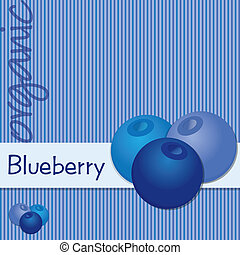 Fruit - Bright organic blueberry card in vector format.