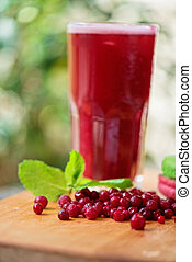 fruit drink with cranberries