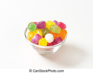 Fruit flavored hard candy drops