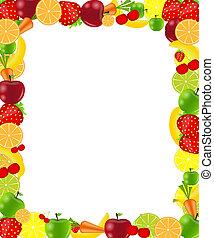Fruit frame vector illustration