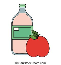 fruit fresh delicious healthy cartoon