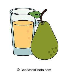 fruit fresh delicious healthy cartoon