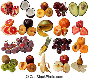 Fruit fresh - some Fruits fresh , juicy , whole and rifled ...