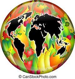 fruit, globe