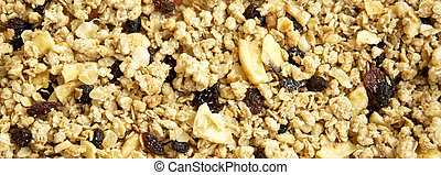 Fruit granola background, closeup.