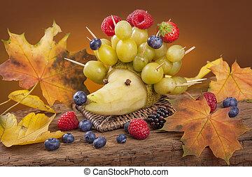 fruit, hérisson