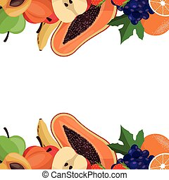 fruit healthy border card
