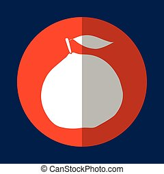 Fruit healthy food icon