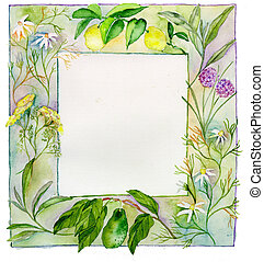 Fruit, Herb, and Flower Frame