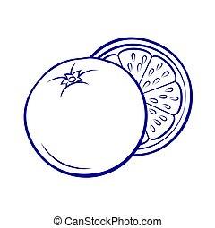 fruit, icône
