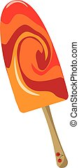 Fruit ice lolly , vector or color illustration