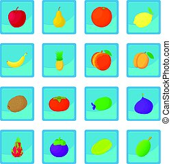 Fruit icon blue app