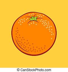 Fruit Icon - Illustration of Juicy Stylized Orange Citrus ...