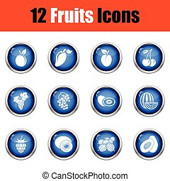 Fruit icon set.