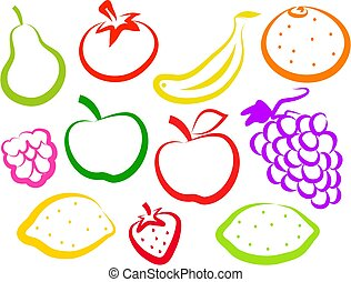 fruit, iconen