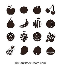 Fruit icons - This illustration was created by using Adobe...