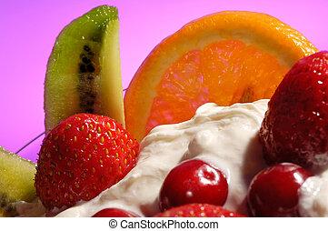 fruit, ijs
