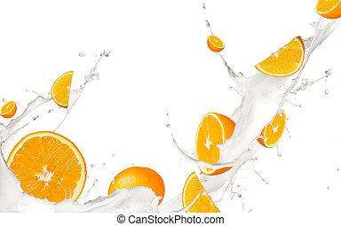 Fruit in milk