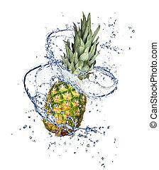 Fruit in splash