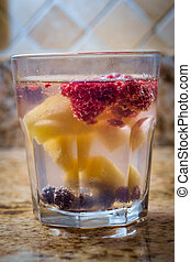 Fruit Infused Seltzer Water - Fruit infused seltzer...