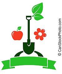 fruit, jardin, signe