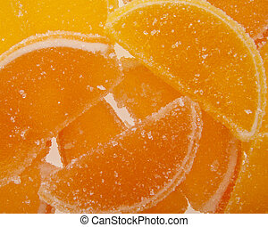 fruit jellies as background